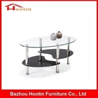 Mode 2-Tier Simple Pas Cher Design Moderne Center De Table En Verre