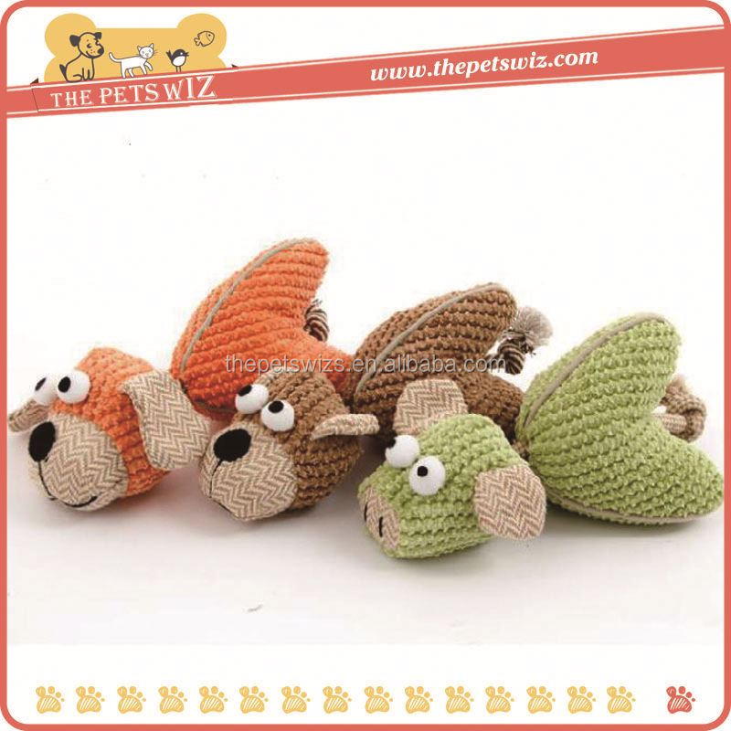 Squeaky dog toy factory ,CC164 plush pet dog toy , mechanical dog toy