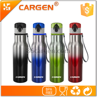 Fanshion flip bicycle stainless steel vacuum water bottle