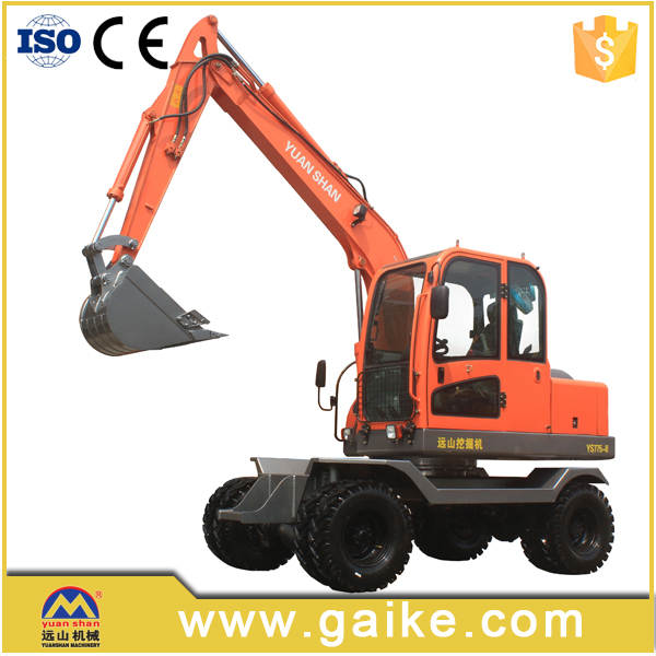 China Machinery Equipment Cheap Mini Wheel Excavator Price For Sale