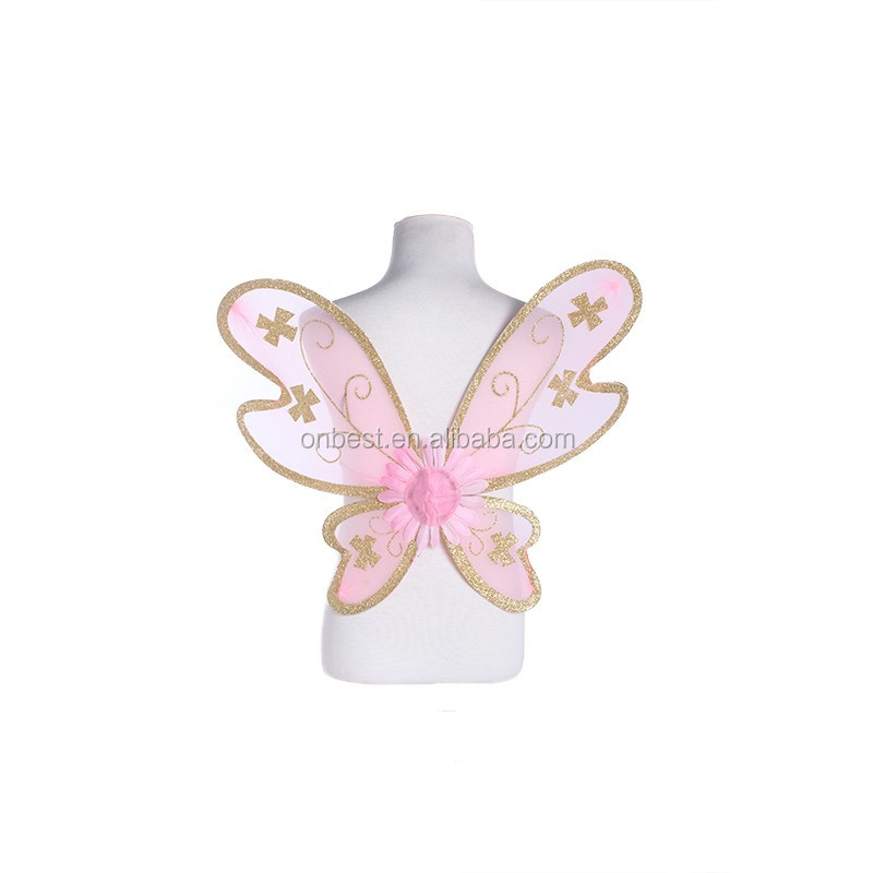 New ITEM fairy wings with glitter pink butterfly wings for kids halloween party decoration