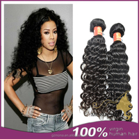 Natural color thick bundles 100 brazilian virgin hair weft