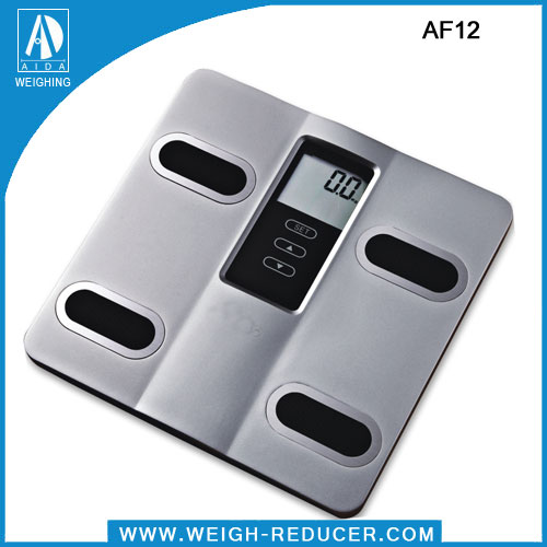AF12 precision body fat water muscle bone weight digital bathroom scale