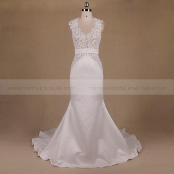 Backless Mermaid Wedding Gown Malaysia Simple Bride Wedding Dress ...