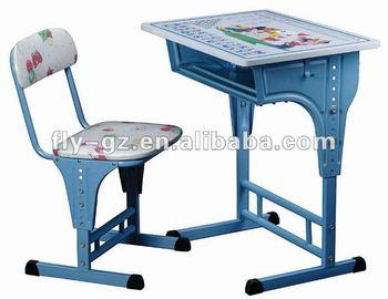 Cartoon bureau en stoel kinderen witte bureau stoel schattige