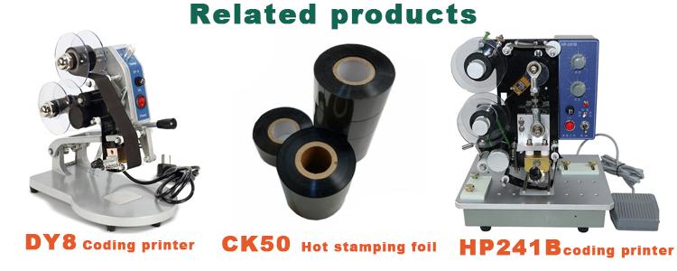 CK50 Lá Dập Nóng, truyền nhiệt dập nóng lá cho Ngày In ribbon, mã hóa băng máy