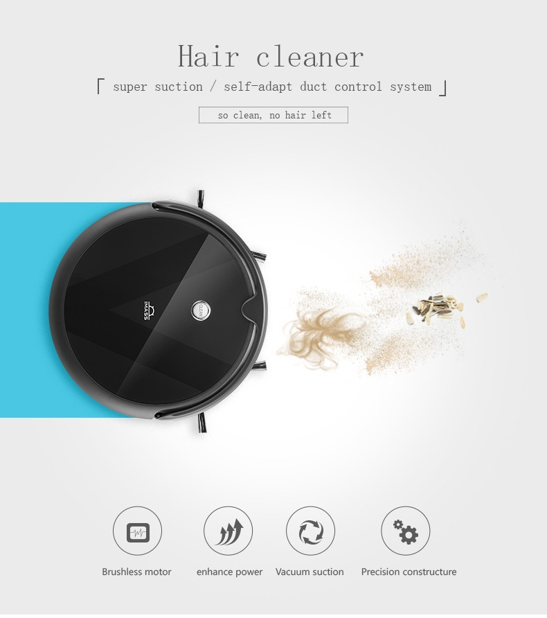 China automatic robot vacuum cleaner manufacturer 2019 new vacuum robot cleaner floor map robot sweep