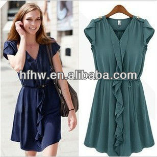 In the summer of 2013 the new fold ruffled lace dress