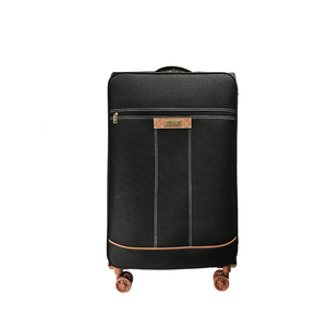 Custom 20inch Travel Soft Polyester Trolley Luggage For Men