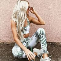 Customized yoga legging printed fitness & yoga set