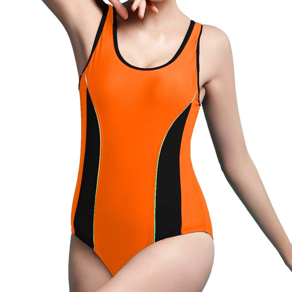 b89a3b13ebf2c NOIC Women s Athletic Monokini Swimwear Retro Bathing Suit One Piece Bikini Racing  Swimsuits