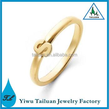 Elegant Design Ring Simple S Letter 18k Gold Ring Buy Gold Ring