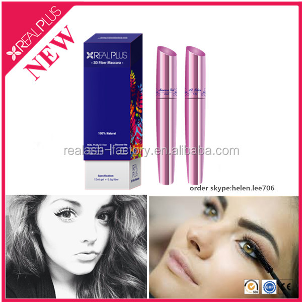 English version chinese beauty products REAL PLUS eyelash extension tool 3d fiber mascara set