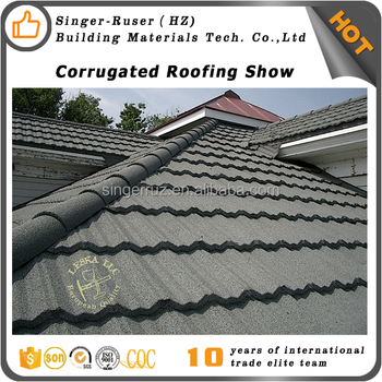 Lightweight Harvey Standard Stone Coated Metal Roofing Tiles From South  Africa