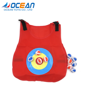 Kids outdoor sport sticky ball vest dodgeball set for target shooting game