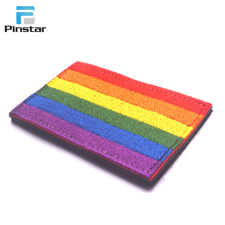 LGBT Embroidery Patches Gay Pride Lesbian Rainbow Flag Embroidered Badge 021939426