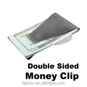 Money Clip Credit Card Holder Unisex Double Sided Holder Wallet