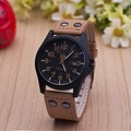Casual Outdoor Sport Military Watches Fashion Quartz Men Watches Leather Strap Army Wristwatch Clock Saat relogio
