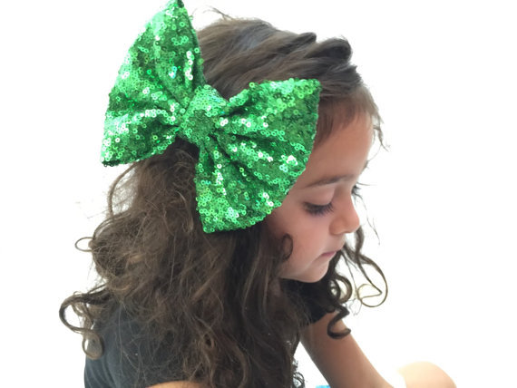fbd3e02bdd976 Buy Christmas Hair Bows Sparkly Bow Clips Big Sequin Bow for Baby Hair  Accessories Hair Bow Clips for Girl Photo Prop Boutique Clip in Cheap Price  on ...