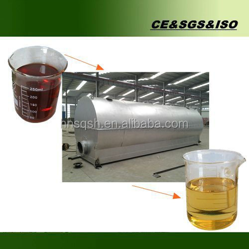 High quality continuous black oil recycling machine with CE ISO