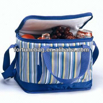 Sripe cooler bag for frozen food