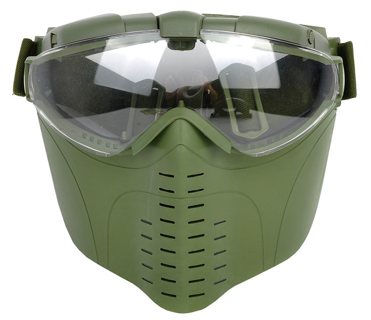 Outdoor sports tactical full face airsoft mask safety goggles paintball mask