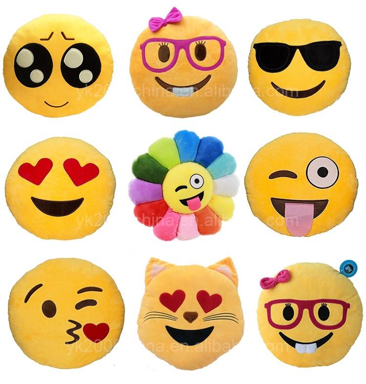 इमोटिकॉन आलीशान emoji तकिए आलीशान खिलौना फैक्टरी थोक
