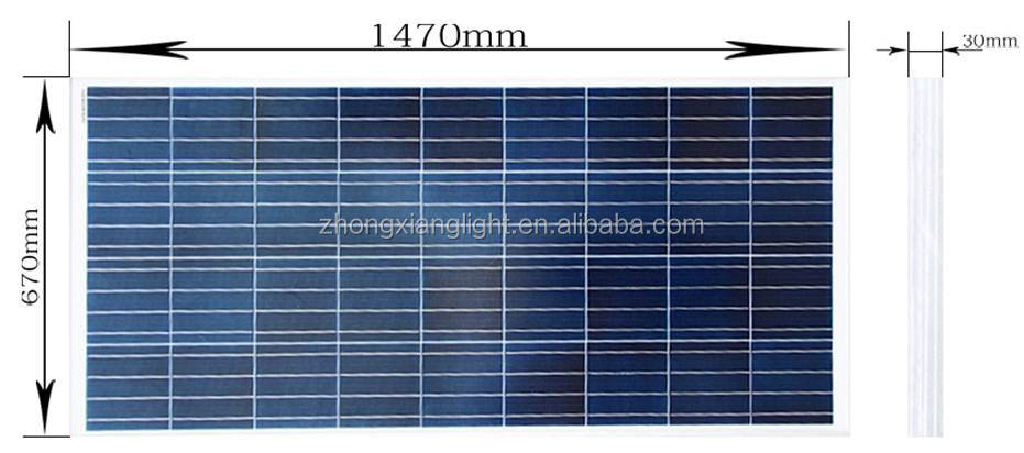 Solar Panel Battery Bank >> Yangzhou Zhongxiang 250 Watt Battery Bank Poly Solar Panel Buy
