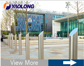 high quality led reflective 316 stainless steel bollard