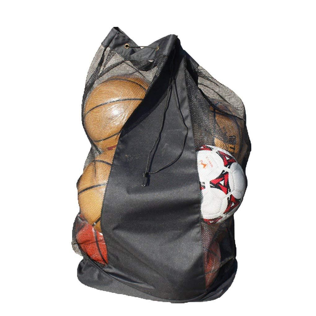 0485c553436f Get Quotations · Equipment Bag Soccer Ball Bags Extra Large Ball Basketball  Football Volleyball Drawstring Mesh Bag Gym Sports
