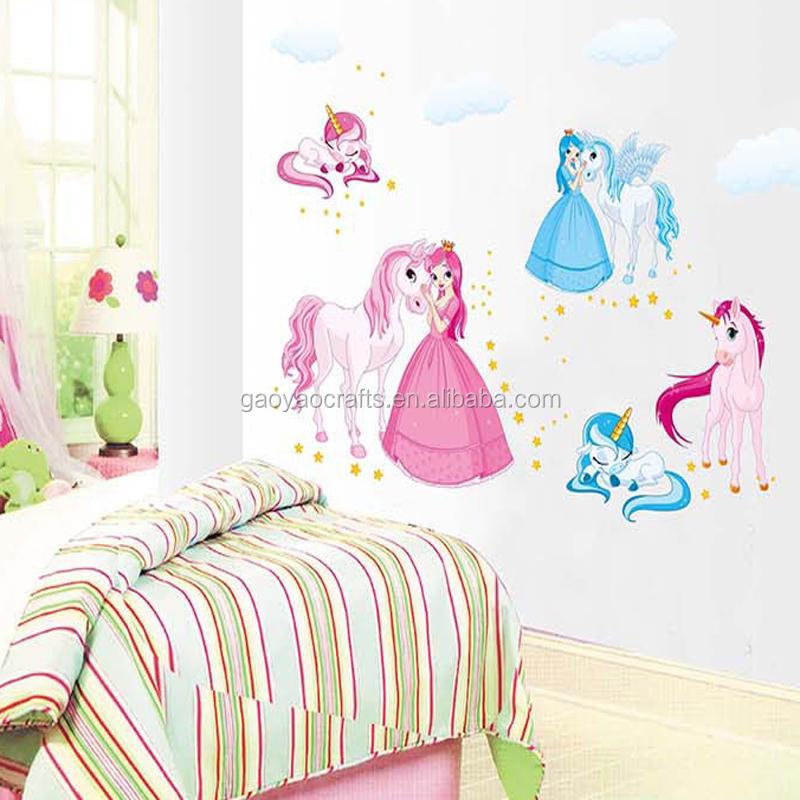 Muurtattoo Prinses Paarden Thuis Sticker Huis Decoratie Woonkamer ...