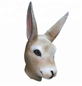 Lovely Rabbit Latex Mask Material and All festival Occasion Animal Mask