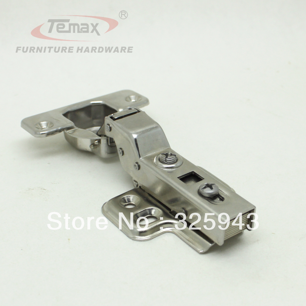 Stainless Steel Kitchen Cabinet Hinges: 35mm Cup Half Overlay Hydraulic Brass Buffer Furniture