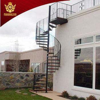 Galvanized Steel Spiral Stairs Outdoor Ss Stainless Steel Spiral Stair Case  Used Metal Stainless Steel Outdoor