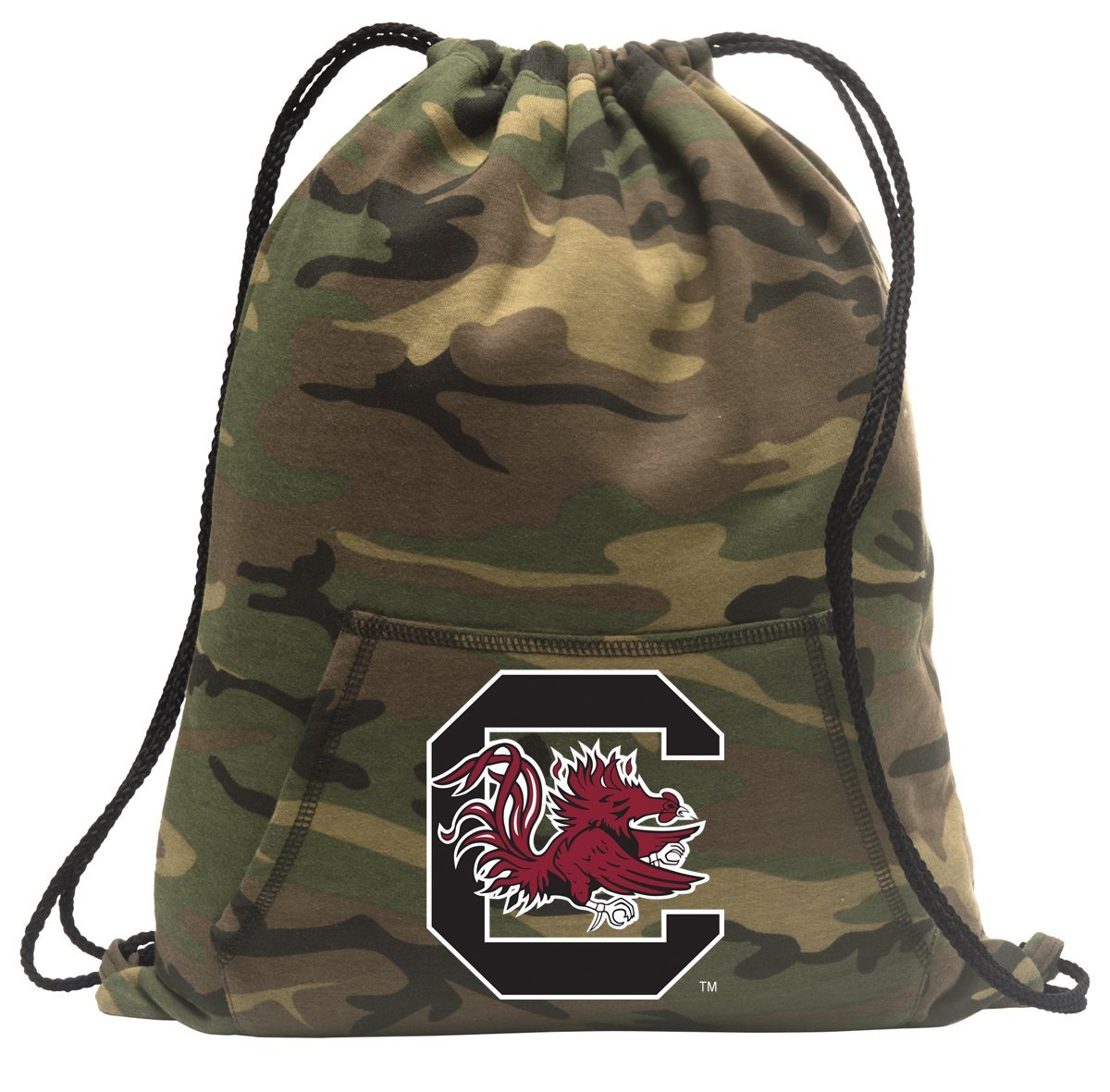 Camo South Carolina Gamecocks Drawstring Bag COOL Hoody University of South Carolina Cinch Pack