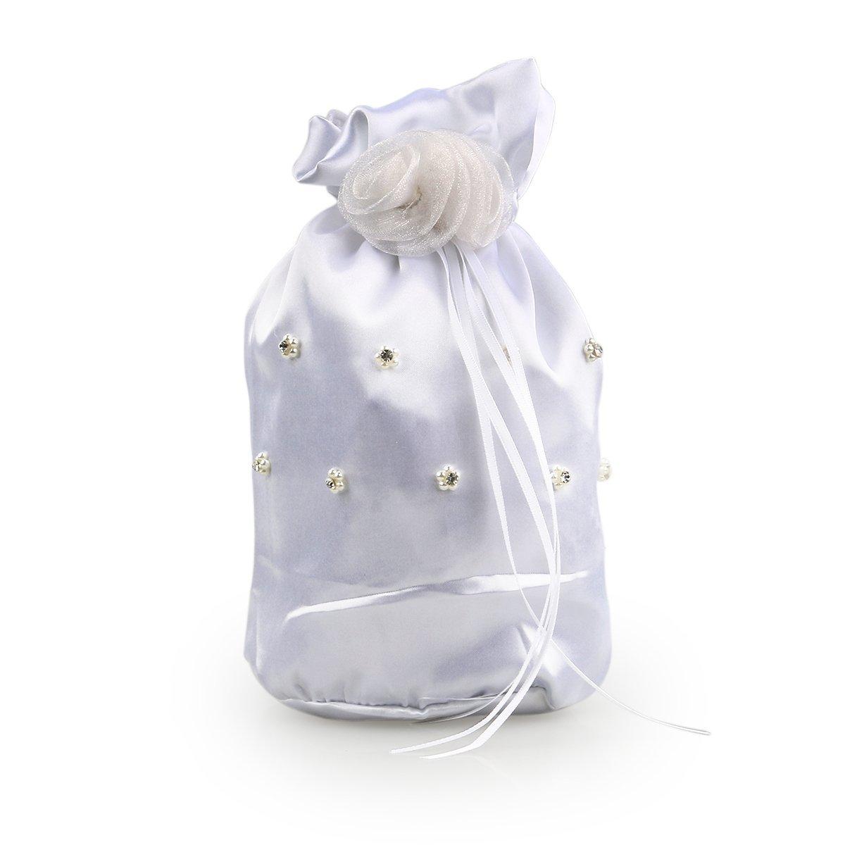 2bcf0a7d1c8f BESTOYARD Wedding Bags Satin Money Bag Bridal Bridesmaid Dolly Bag Handbag
