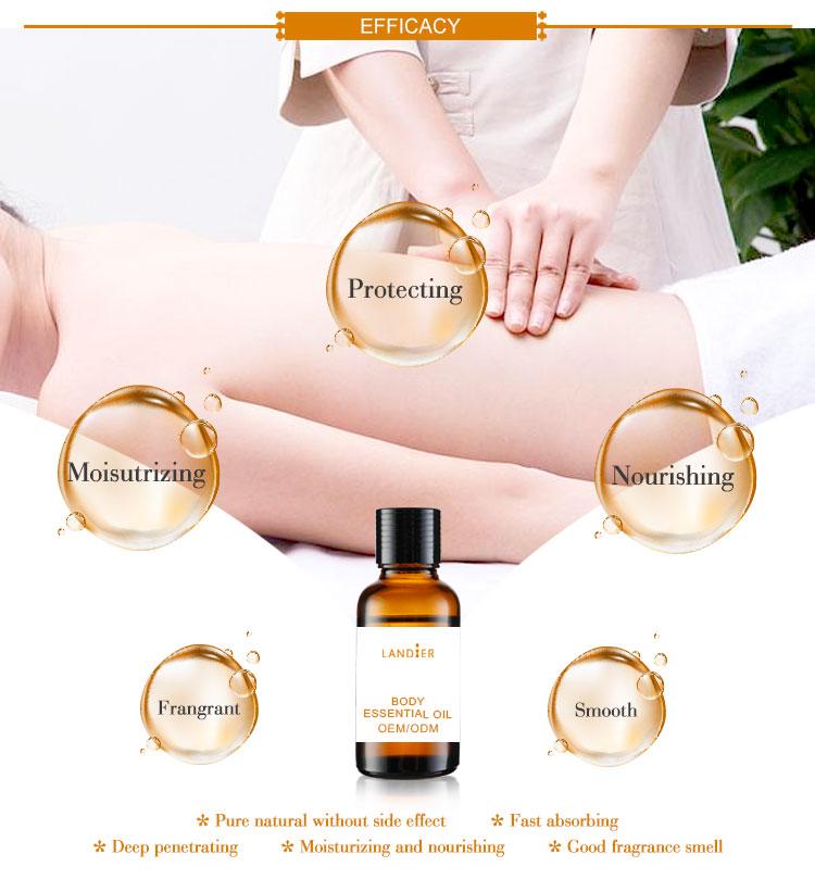 Huile essentielle de Massage de corps de lavande d'amande douce d'huile essentielle d'oem de soin de peau de marque privée