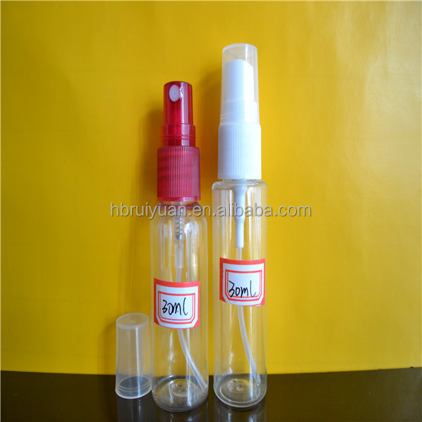 Promotion cosmetics 100ml 120ml empty sterile pet plastic spray bottle for sale