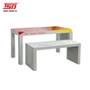 TSD-W272 Custom promotion shop wooden clothes retail display table/2 tier display table/shoe store display racks