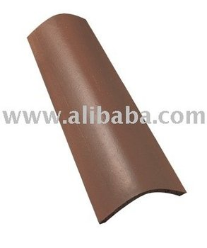 Smooth Dark Brown Clay Roof Tile