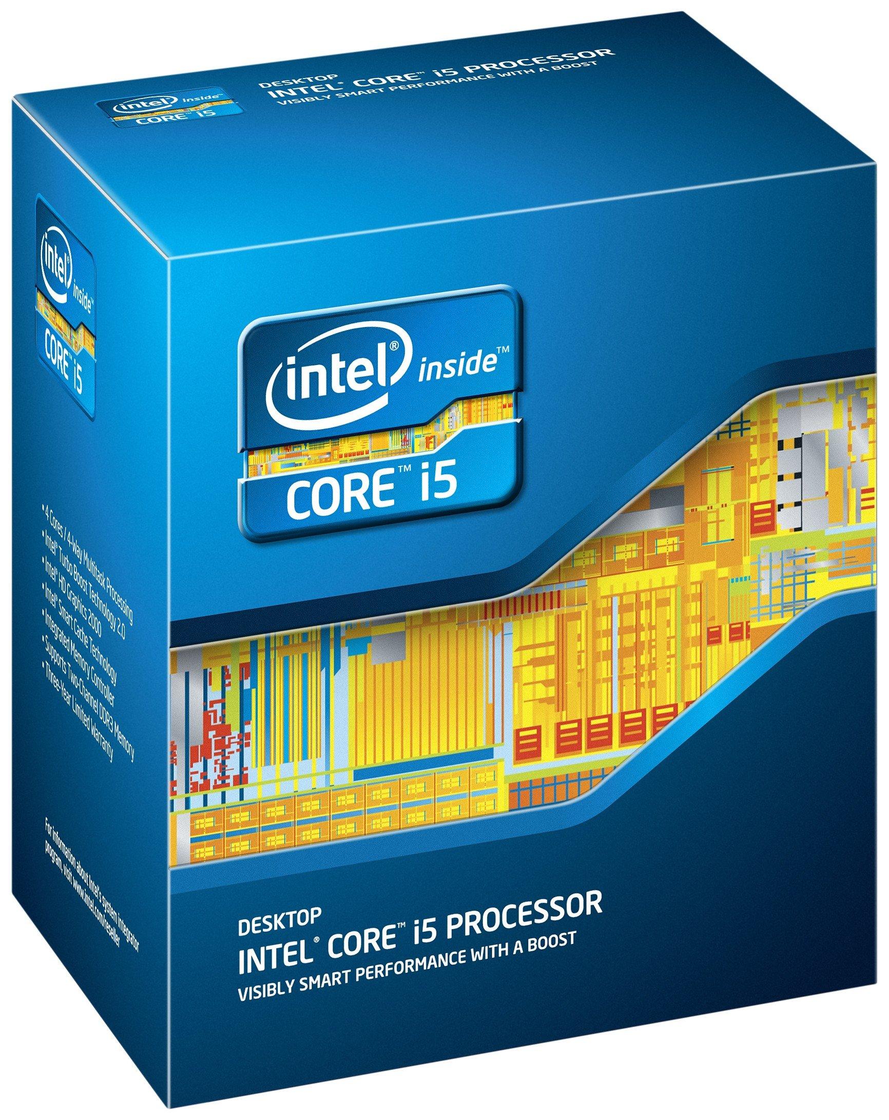Intel Core i5-2500 Quad-Core Processor 3.3 GHz 6 MB Cache LGA 1155 - BX80623I52500