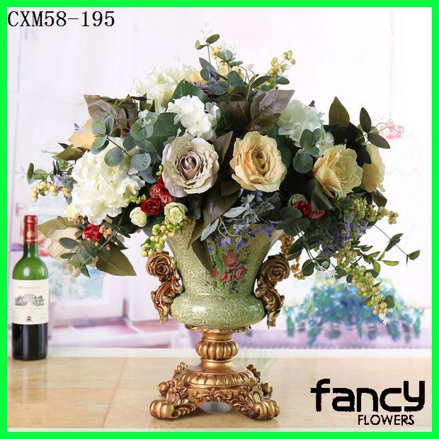 New arrived faux floral arrangements decorative rose flowers arrangements for sale high quality rose arrangements