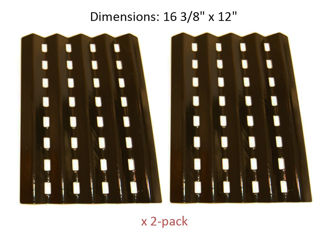 "BBQ funland PH0242 (2-pack) Brinkmann Gas Grill Heat Plate Replacement for Lowes Model Grills (16 3/8"" x 12"")"