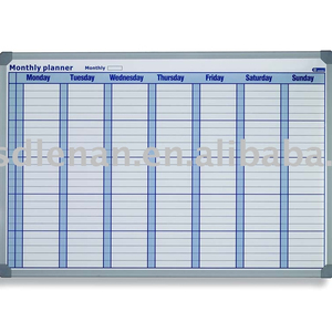 Schedule board -- whiteboard with full color offset printing