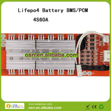 LiFePO4/li ion bettery BMS/PCM 60A 4S 12V