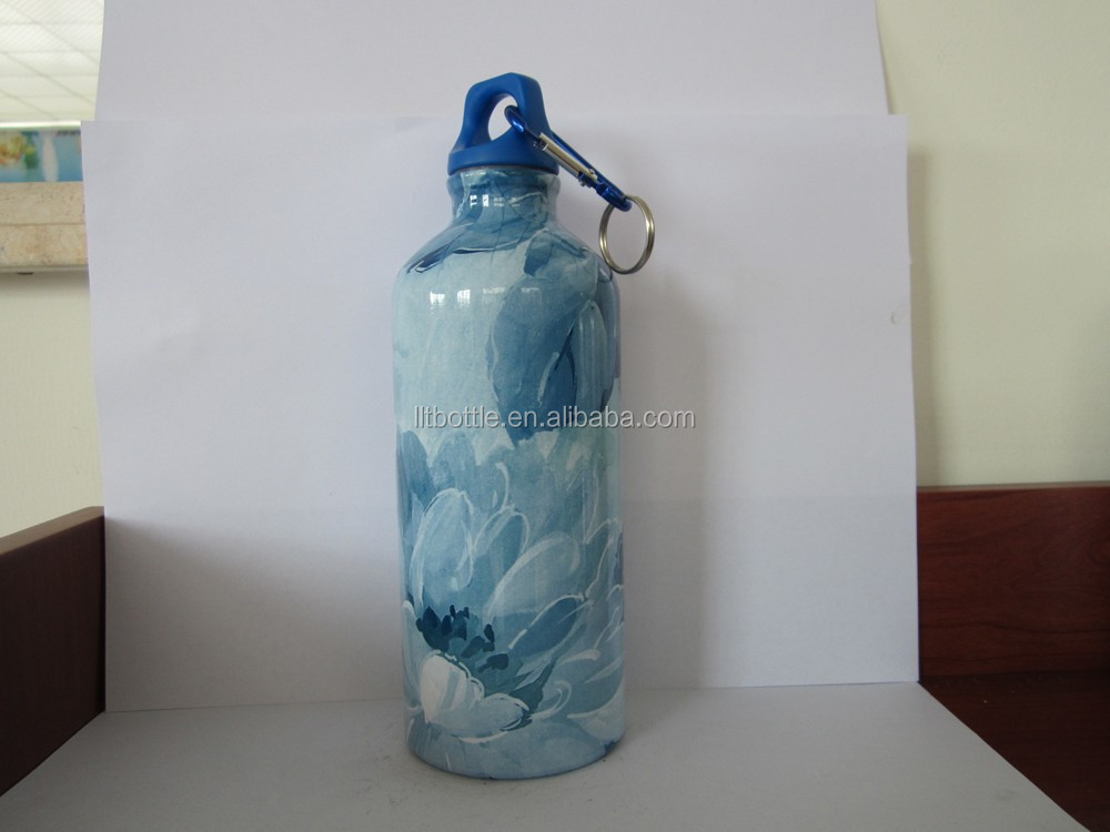 18/8 single wall Stainless Steel Water Bottle Canteen - 24oz. Capacity with full color printing