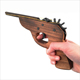 QS brand cheap rubber band toy wood gun