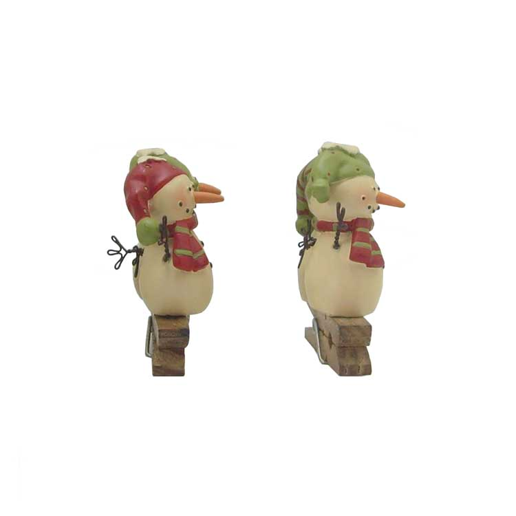 2pcs/set snowmen couples clip christmas gift modern creative couple jewelry