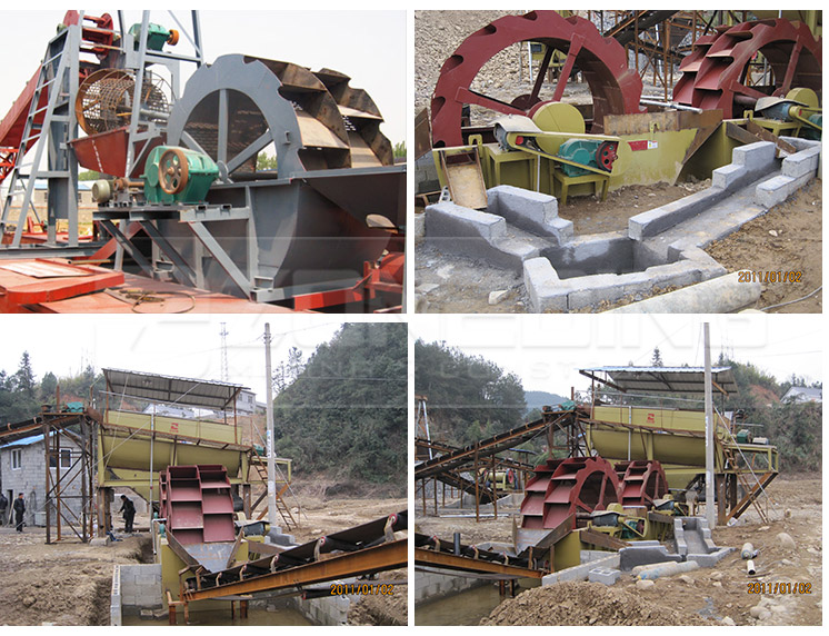 Energy saving quartz sand stone washer sand washing plant production line