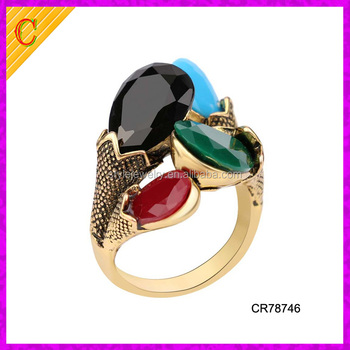Cr Women Jewelry Wholesale Gold Ring Models Sample Fashion